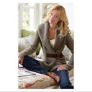 soft surroundings belted country weekend sweater